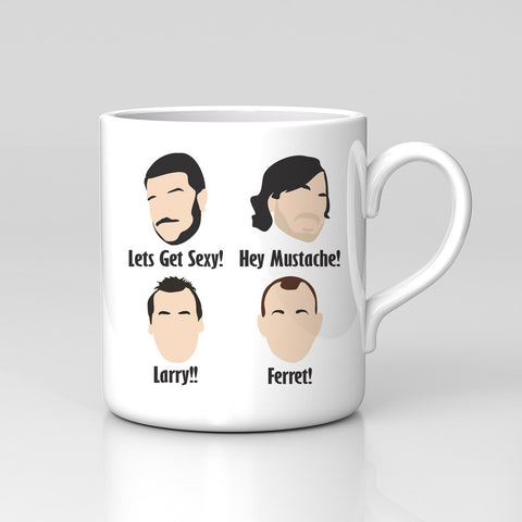Impractical Jokers Larry Hey Mustache Ferret Sexy Mug Great Birthday Xmas Gift!