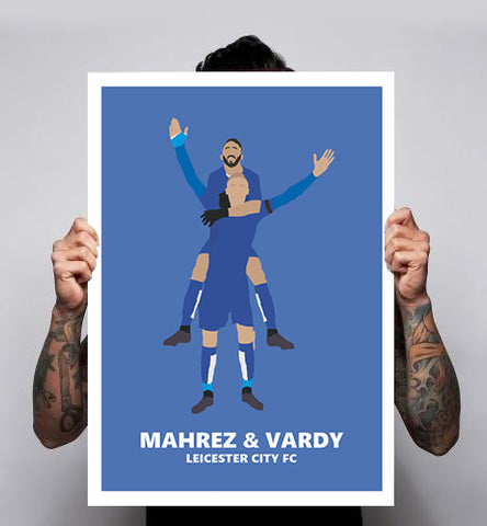 Vardy Leicester City LCFC Riyad Mahrez Football Soccer Premier League Poster Print 180gm A1-3 New