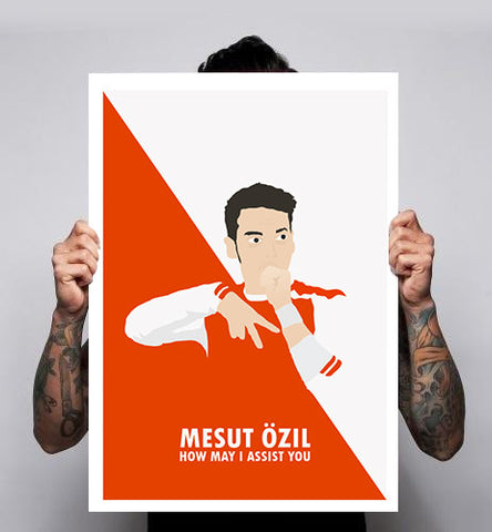 Mesut Ozil Arsenal AFC Gunners Wenger Football Real Madrid Poster Home Print Art A1-A3 New