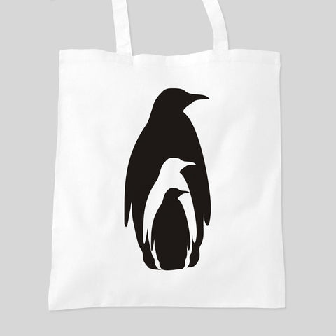 Penguin Family Animal Zoo Personalised Tote Bag Mother's Day Birthday Gift