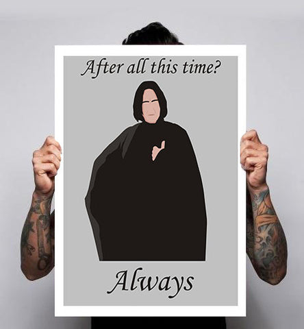 Alan Rickman RIP Snape Harry Potter Movie Poster Print A3 A2 A1