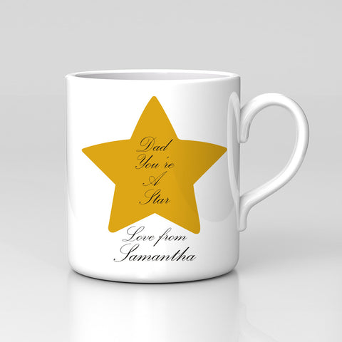Personalised Names Dad You're A Star Mug Birthday Father's Day Gift