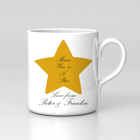 Personalised Names Mum You're A Star Mug Birthday Mother's Day Gift