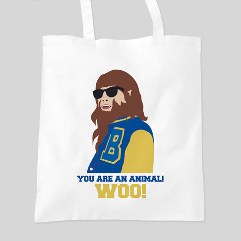 Teen Wolf Michael J Fox Funny Movie Warewolf Fan Art Tote Bag