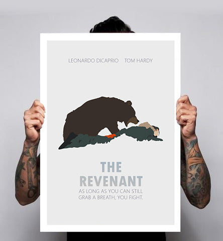 The Revenant Leonardo DiCaprio Bear Fan Art Unofficial Poster Print 180gm A1-3