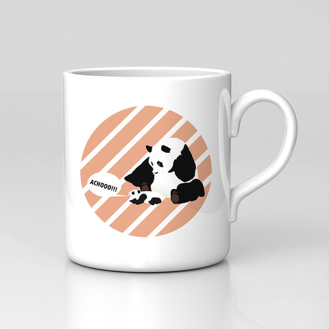 Panda Cubs Family Sneeze Achooo Animals Nature Mug Great Birthday Xmas Gift New