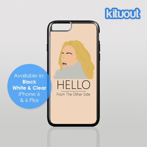 Adele Hello 25 Music single video Tour iPhone 5 6/6 Plus Clear Black White Case