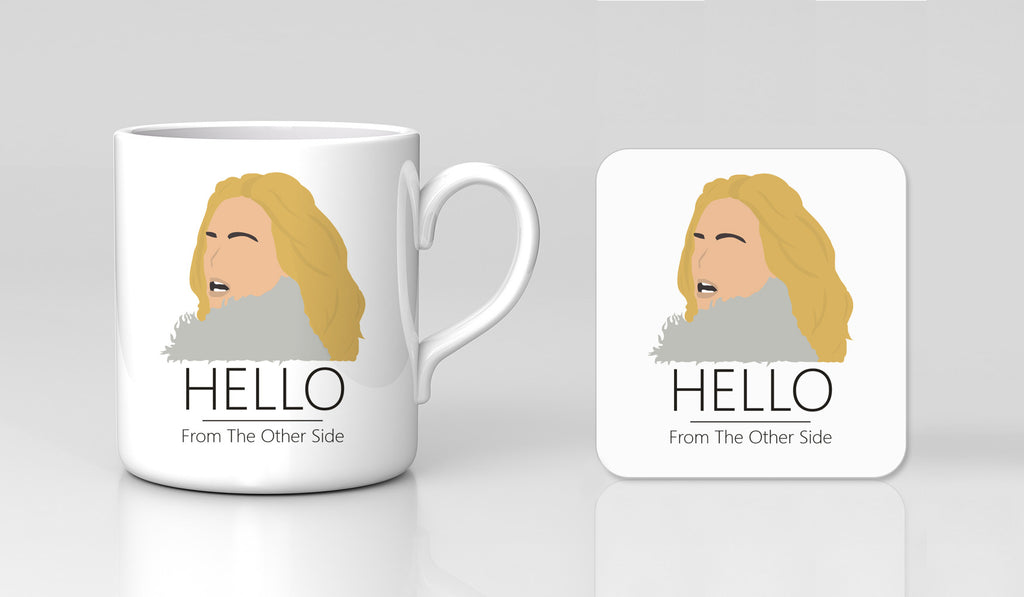 Adele Hello 25 Music single video Tour Retro Mug & Coaster Xmas Gift Set New