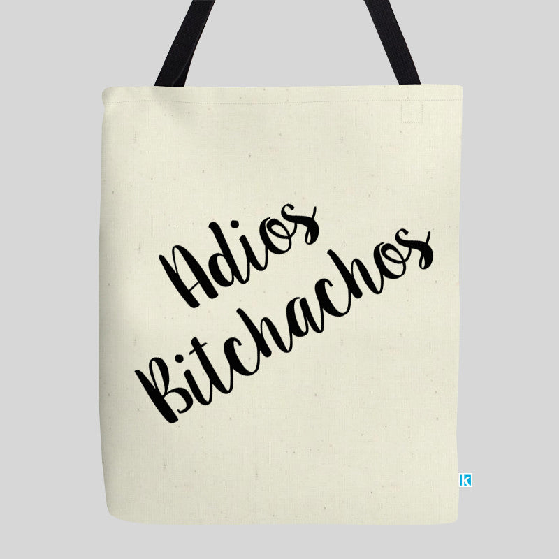 Adios Bitchachos Funny Leaving Holiday Present Slogan Shopper Tote Bag 100% Cotton Organic