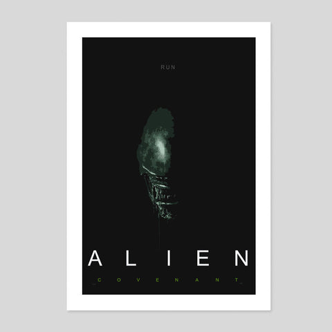 Alien Covenant Retro Horror Film 2017 Poster Minimal Art Print Room A3 - A1