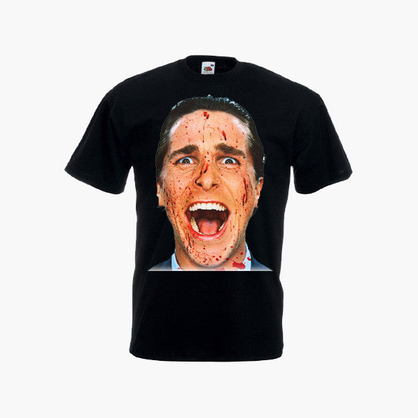 American Psycho Movie Horror Thriller Retro Mens Black T-Shirt Top All Sizes New