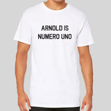 Arnold Is Numero Uno Gym Iron Longline Long Extra Length Tall Body Urban T-Shirt