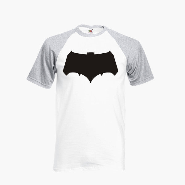 Batman V Superman New Bat Logo Dawn Of Justice DC Fan Art Unofficial T Shirt Baseball Ringer S-2XL New