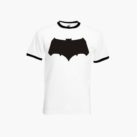 Batman V Superman New Bat Logo Dawn Of Justice DC Fan Art Unofficial Ringer T-Shirt Unisex Tee S - 3XL New