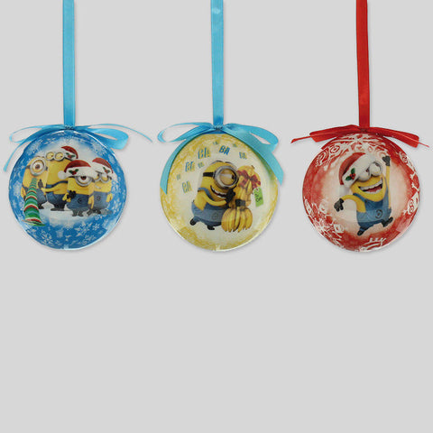 Xmas Christmas Minions Decoupage Assorted Baubles Official Styles Despicable Me