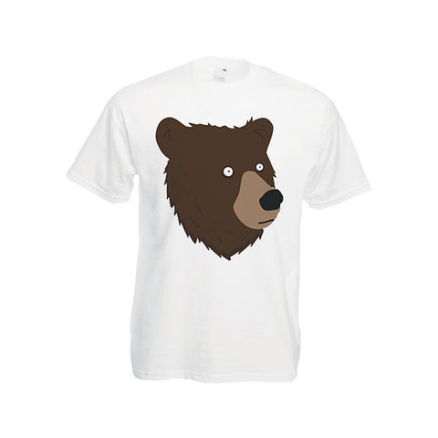 Grizzly Bear Comic Cartoon Funny Illustration T-Shirt Unisex Tee S-3XL