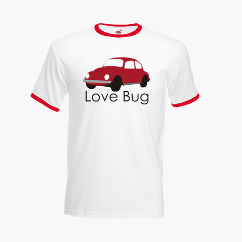 Love Bug Beetle Classic Car Volkswagen Unofficial T-Shirt Ringer Top S-2XL New