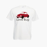 Love Bug Beetle Classic Car Volkswagen Unofficial T-Shirt Boys Girls Kids Childrens New