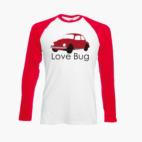 Love Bug Beetle Classic Car Volkswagen Unofficial T Shirt Long Sleeve S-2XL New