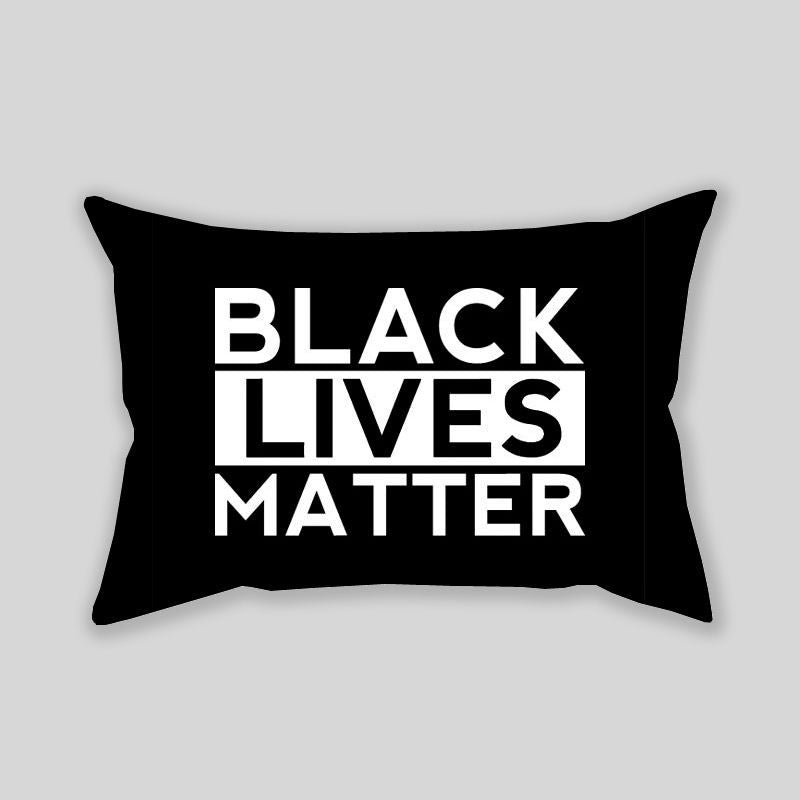 Black Lives Matter Throw Pillowcase Rectangle Sofa Couch 100% Cotton