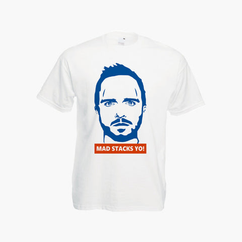 Breaking Bad T-Shirt walter White Jesse Pinkman Tee shirt Bitch Mad Stacks Yo!