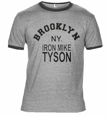 Iron Mike Tyson Boxing Sport Ringer T Shirt USA Brooklyn New York FOTL Tee New