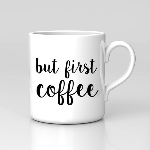 But First Coffee Work Gift Teacher Summer Quote Mug Great Birthday Office Tea