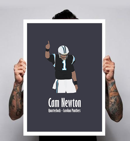 Cam Newton Carolina Panthers MVP quarterback NFL Poster Home Print Art