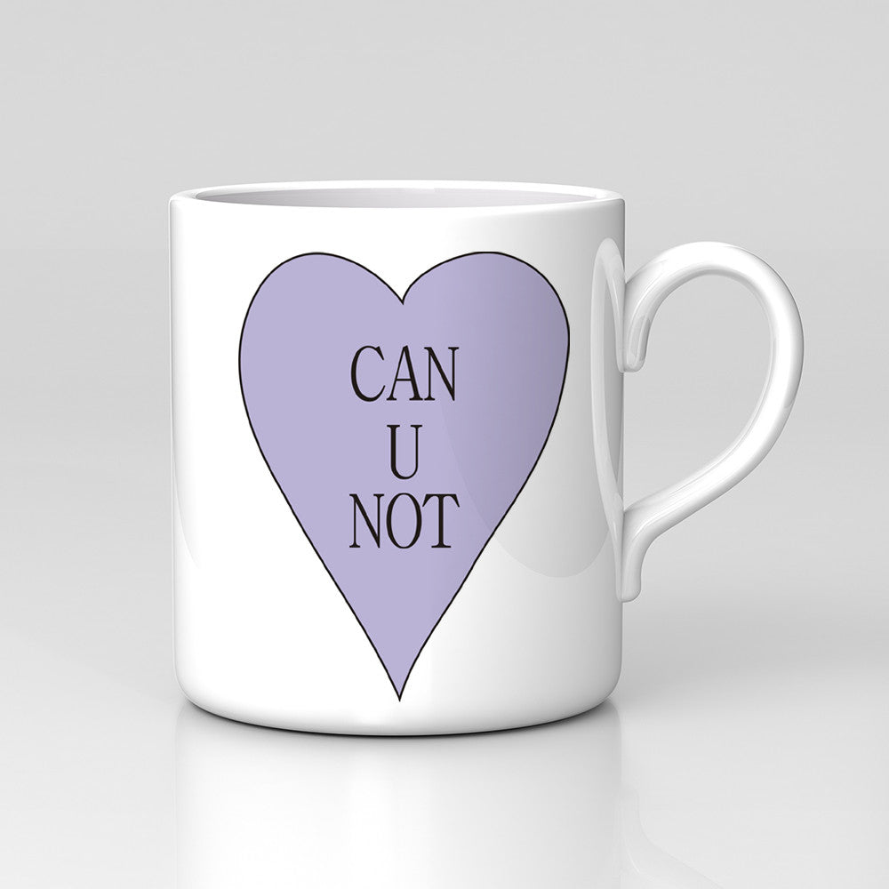 Can U Not Heart Drawn Funny Antisocial Monday Work Mug Great Birthday Xmas Gift New