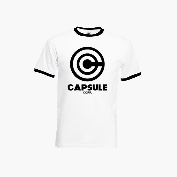 Capsule Corp Ringer T-Shirt Dragon Ball Corporation Inspired Unisex Fan Top New