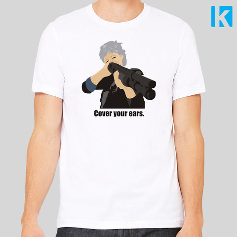 Cover Your Ears Carol Walking Dead Season 8 Negan Fan Art T-Shirt Unisex Tee S - 3XL New