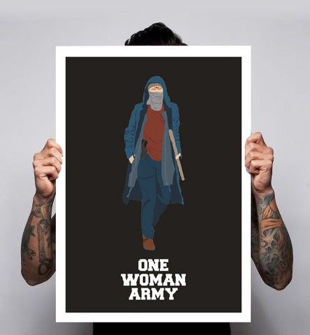 The Walking Dead Carol One Woman Army Fan Art Unofficial Poster Print Art Wall tumblr 180gm New