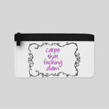 Carpe That F*cking Diem Funny Quote Make Up Pencil Case Bag Carry-All Pouch