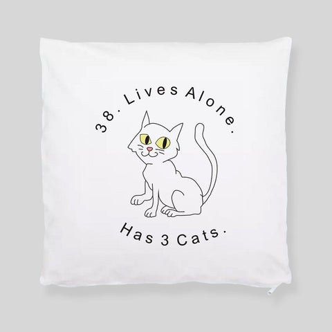 Impractical Jokers Cat Lives Alone Tattoo Fan Art Q Throw Pillowcase