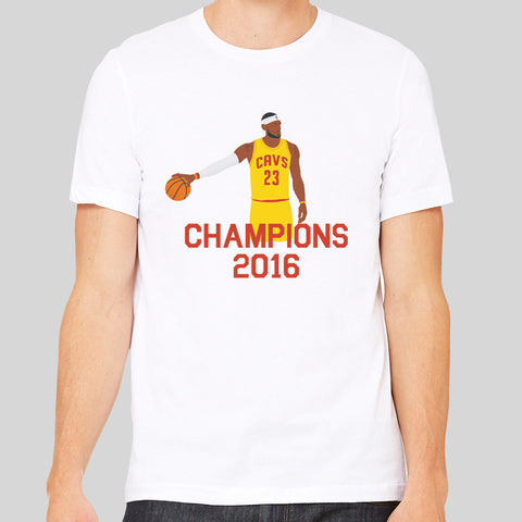 LeBron James NBA 2016 Champions Cleveland Cavaliers T-Shirt Top Tee The Land