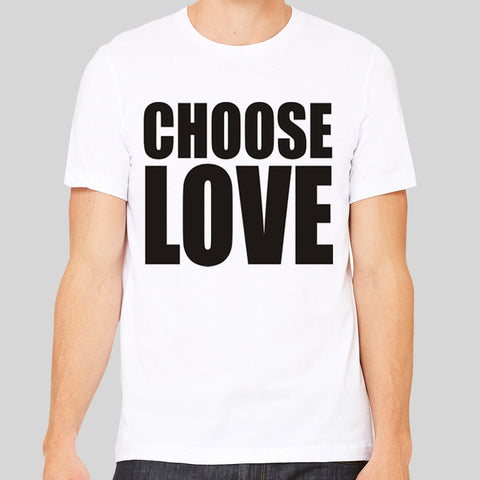 Choose Love Life Protest George Michael Peace Music T-shirt Unisex Tee New