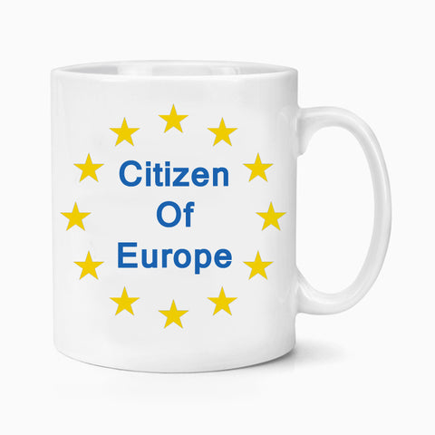 Citizen of Europe Brexit Coffee Mug European Union Stars Flag May Exit Remain Novelty Birthday Xmas Gift
