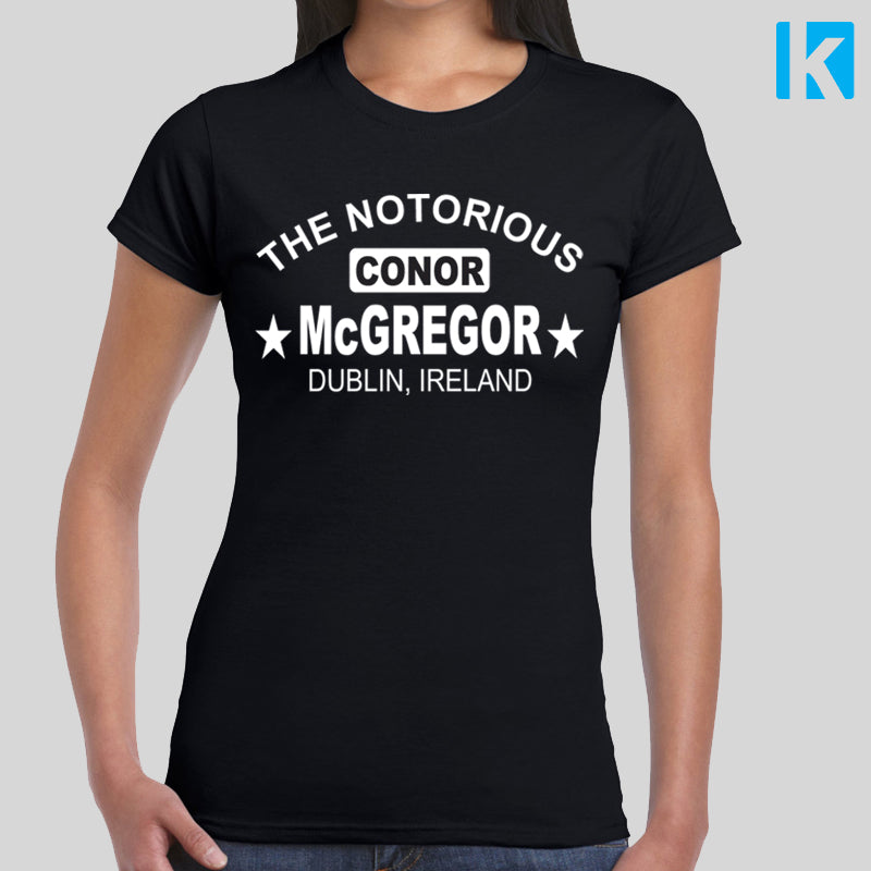 Conor McGregor Fan T-Shirt Mayweather Fight Gym Unofficial Womens Girls Top