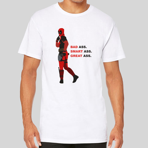 Deadpool Fan Art Unofficial Movie Film Longline Long Extra Length Tall Body Urban T-Shirt