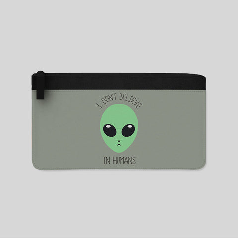 Don't Believe In Humans UFO Aliens Carry-All Pouch New