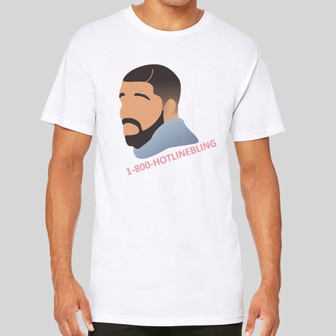 Drake Hotline Bling Unofficial Fan Art Longline Long Extra Length Tall Body Urban T-Shirt