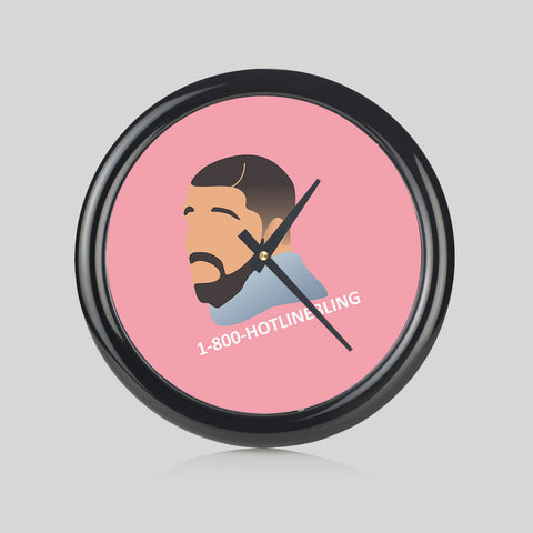 Drake Hotline Bling Hip Hop 1-800 Music Round Wall Clock Bedroom Kitchen Home