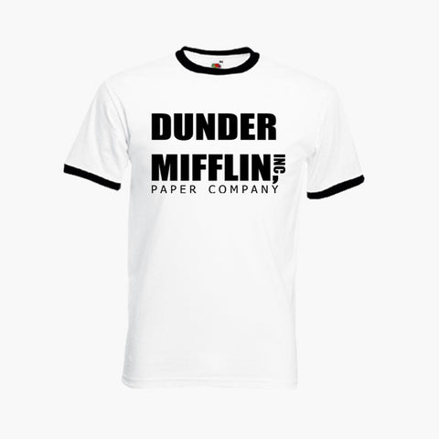 Dunder Mifflin Paper Company The Office US Fan Art Unofficial T-Shirt Ringer Top S-2XL New