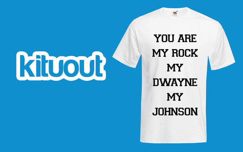 You are my rock Dwayne Johnson Funny Blog Quote Parody UNISEX Stylish New