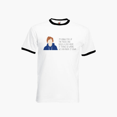 Ed Sheeran Lego House Fan Art Unofficial T-Shirt Ringer Top S-2XL New