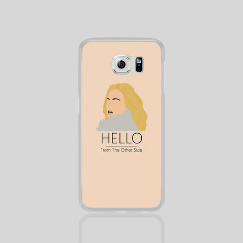 Edele Music Hello Other Side Fan Art Samsung Galaxy S6 Phone Black White Case