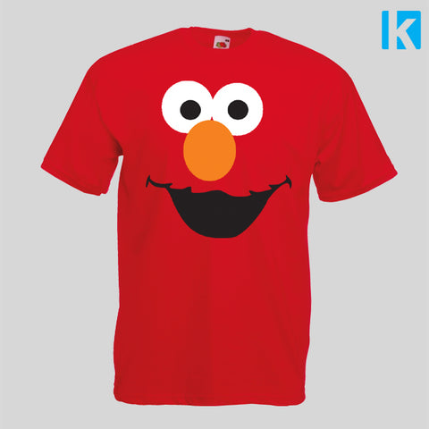 Elmo Face Fancy Dress Funny TV Show Adults T-shirt Unisex Tee Mens Womens