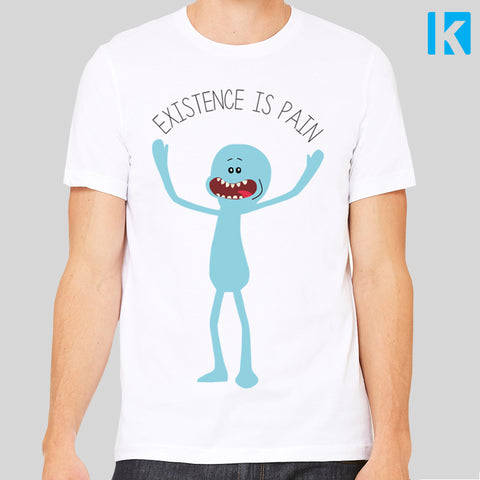 Existence is Pain Rick and Morty Mr Meeseeks T-Shirt Mens Unisex Tee S to 3XL