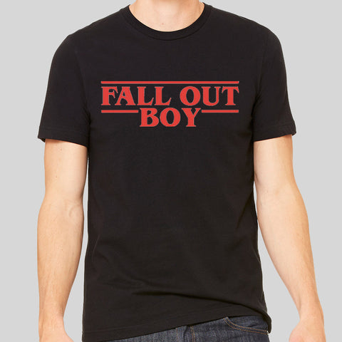 Fall Out Boy Stranger Things Font Logo Music Unofficial T-shirt Unisex Men Tee