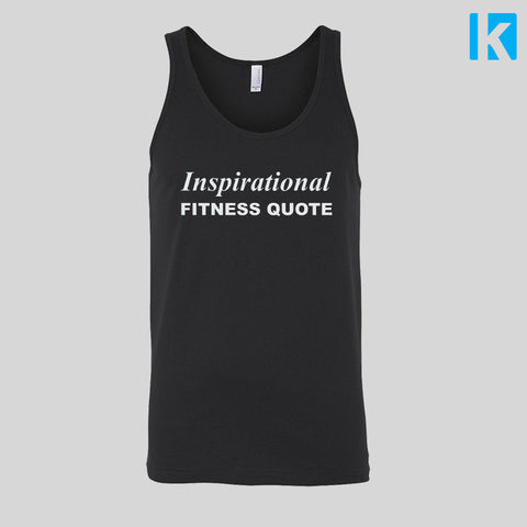Inspirational Fitness Quote Workout Muscle Gym Vest Womens Mens Jersey Tank Top